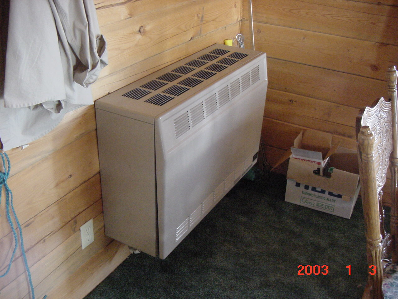 Vented Natural Gas Heater For Cabin